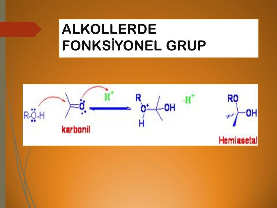 ALKOLLERDE FONKSİYONEL GRUP