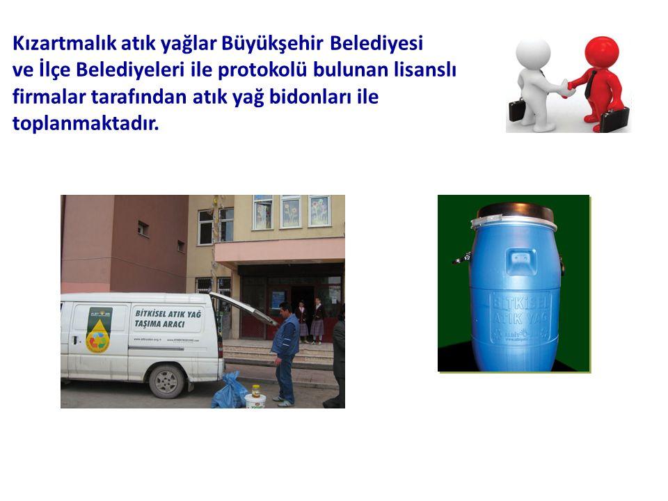 Kızartmalık atık yağlar Büyükşehir Belediyesi