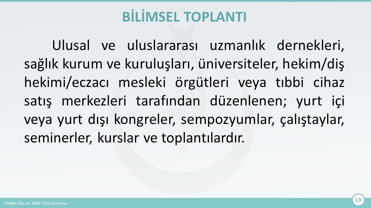 BİLİMSEL TOPLANTI