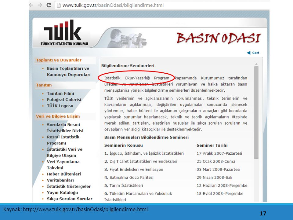 Kaynak: http://www.tuik.gov.tr/basinOdasi/bilgilendirme.html