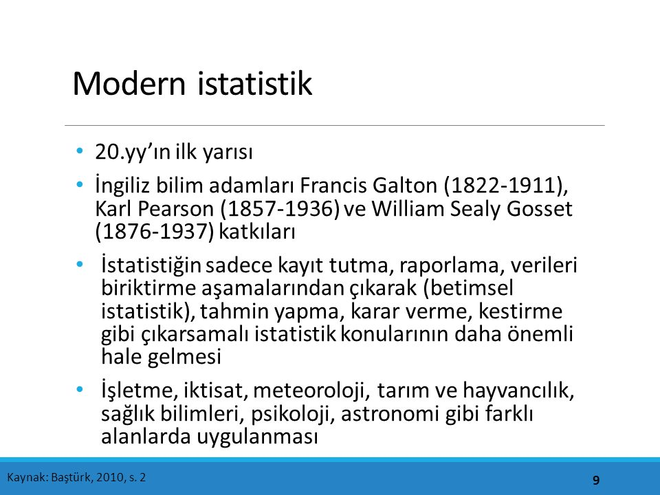 Modern istatistik İstatistiğin yeni boyutlar kazanması