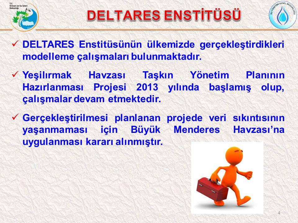 DELTARES ENSTİTÜSÜ DELTARES Enstitüsünün ülkemizde gerçekleştirdikleri modelleme çalışmaları bulunmaktadır.