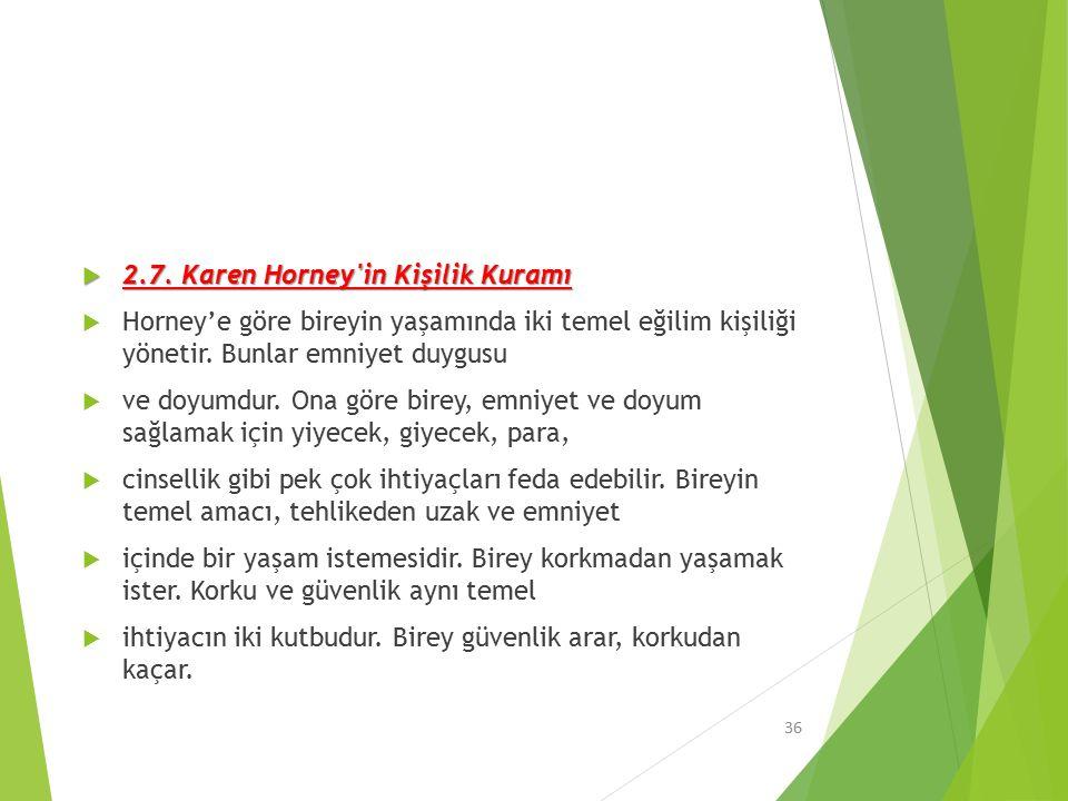 2.7. Karen Horney in Kişilik Kuramı
