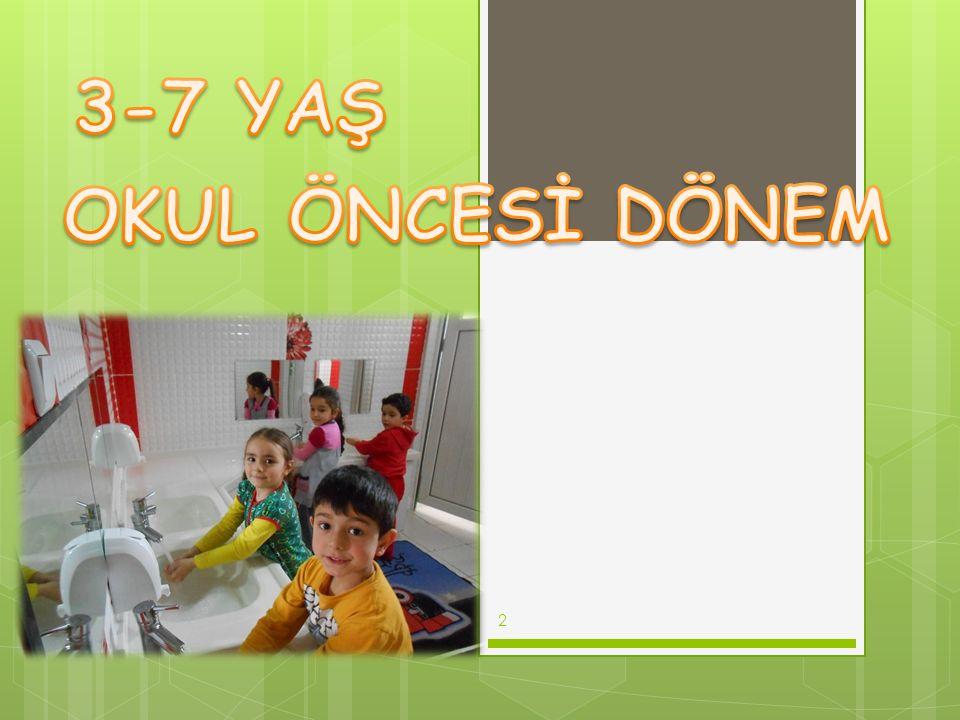 3-7 YAŞ OKUL ÖNCESİ DÖNEM