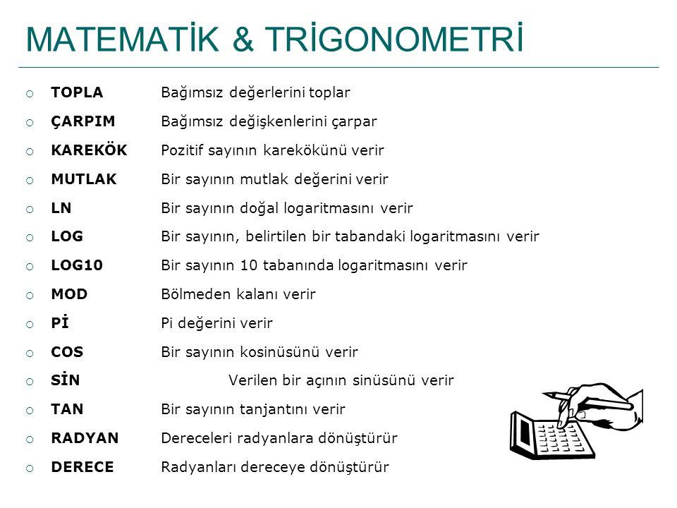 MATEMATİK & TRİGONOMETRİ