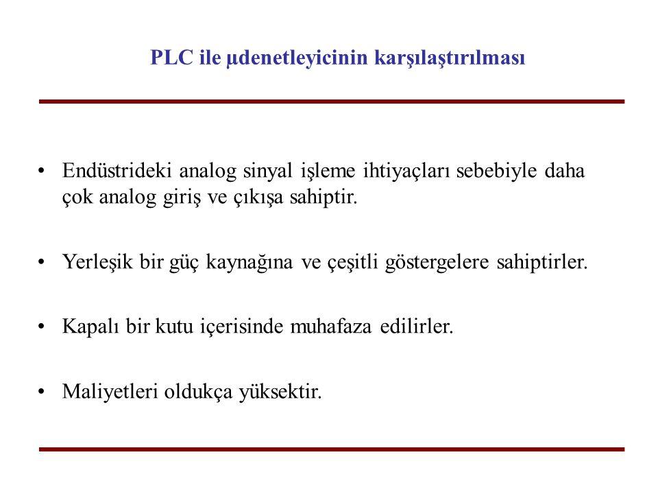 PLC ile µdenetleyicinin karşılaştırılması