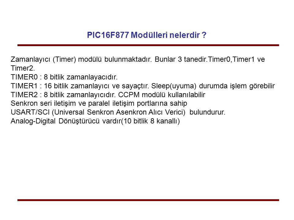 PIC16F877 Modülleri nelerdir