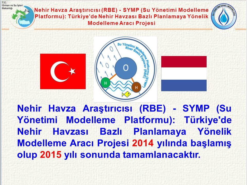 Nehir Havza Araştırıcısı (RBE) - SYMP (Su Yönetimi Modelleme Platformu): Türkiye de Nehir Havzası Bazlı Planlamaya Yönelik Modelleme Aracı Projesi