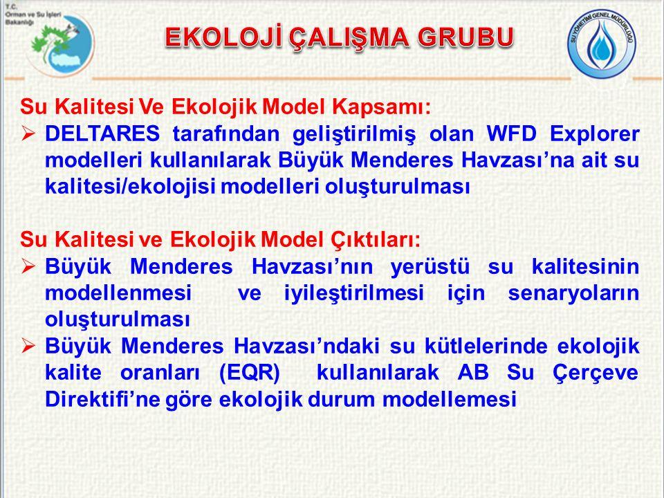 EKOLOJİ ÇALIŞMA GRUBU Su Kalitesi Ve Ekolojik Model Kapsamı: