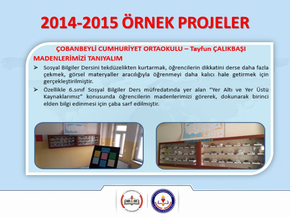 2014-2015 ÖRNEK PROJELER