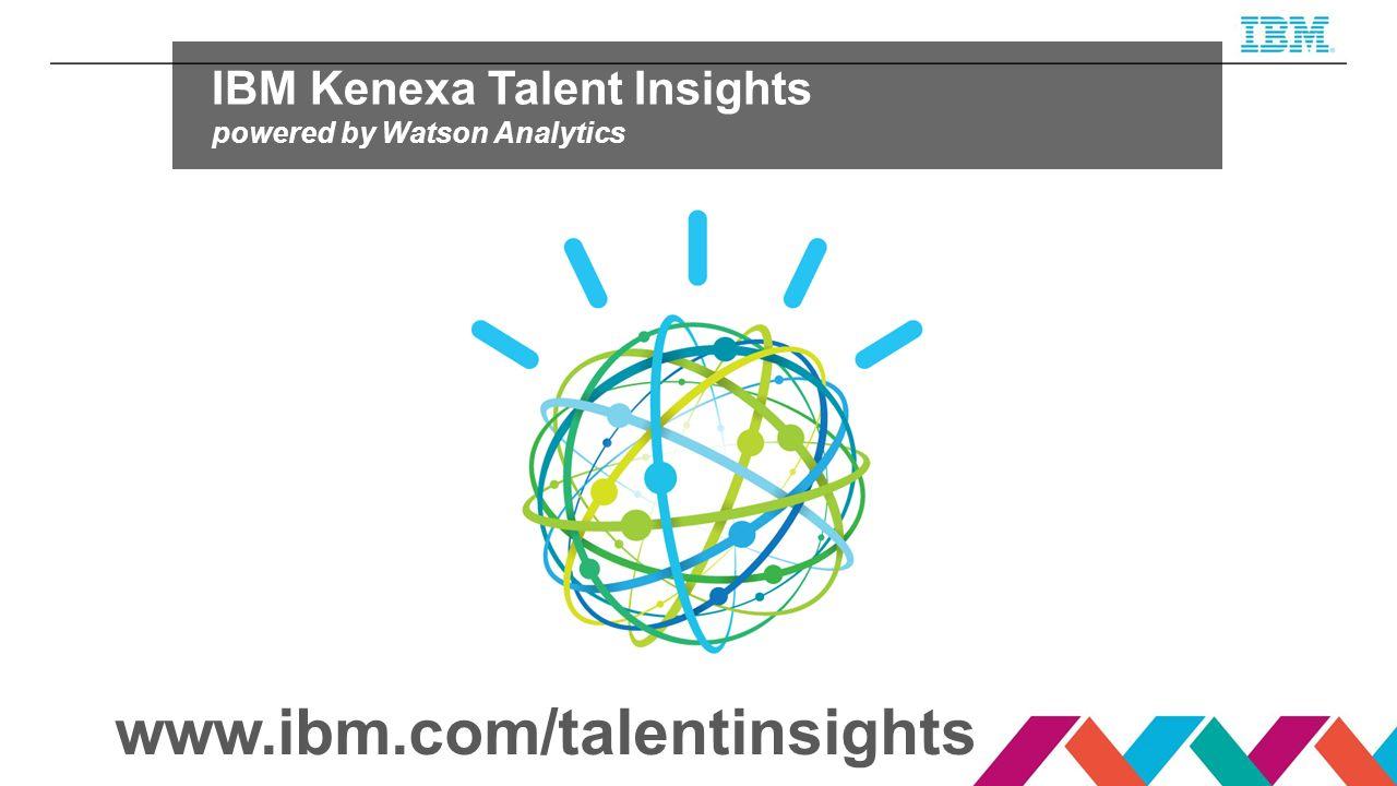 www.ibm.com/talentinsights IBM Kenexa Talent Insights
