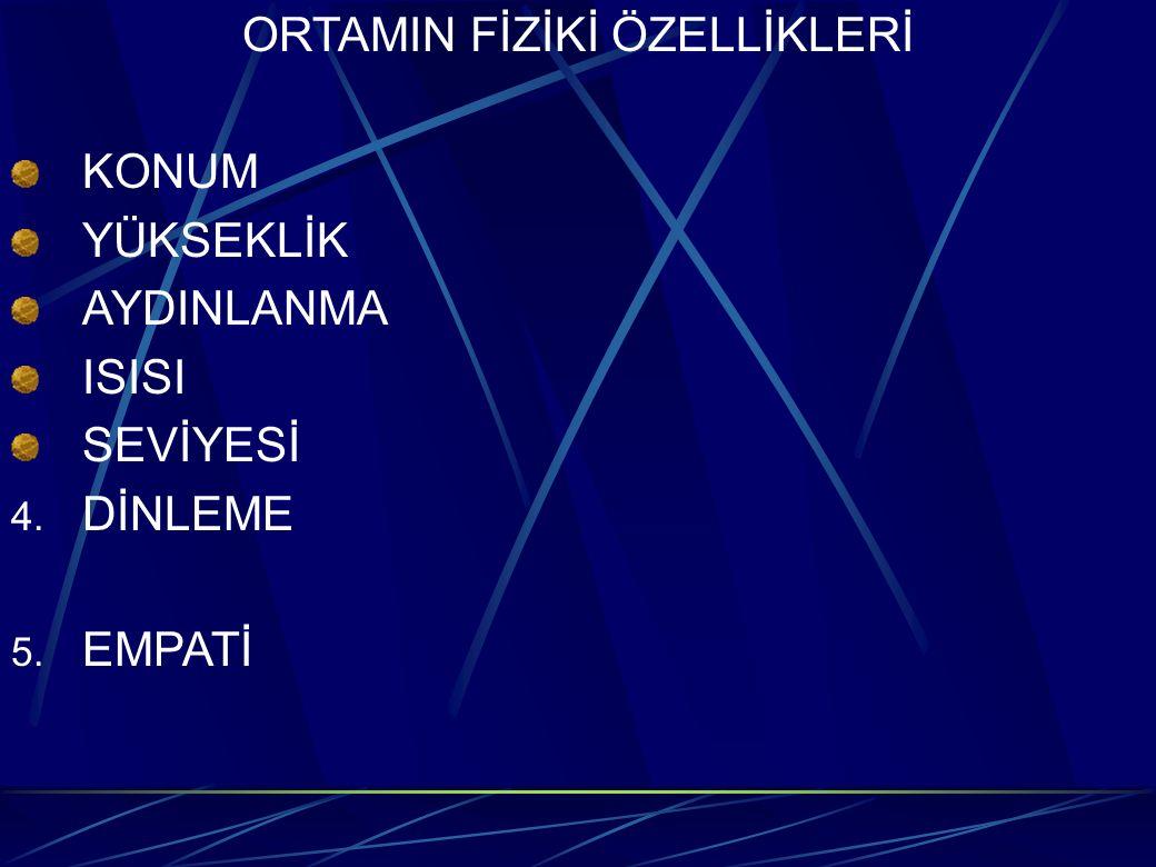 ORTAMIN FİZİKİ ÖZELLİKLERİ