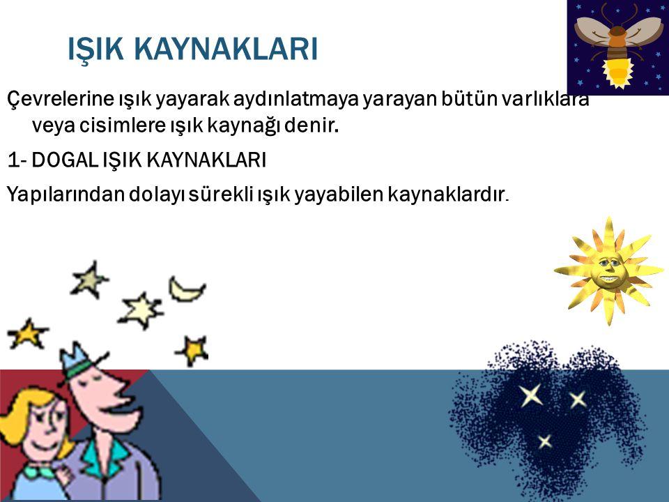 IŞIK KAYNAKLARI