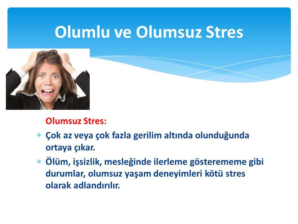 Olumlu ve Olumsuz Stres