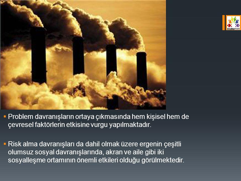 Problem davranışların ortaya çıkmasında hem kişisel hem de çevresel faktörlerin etkisine vurgu yapılmaktadır.