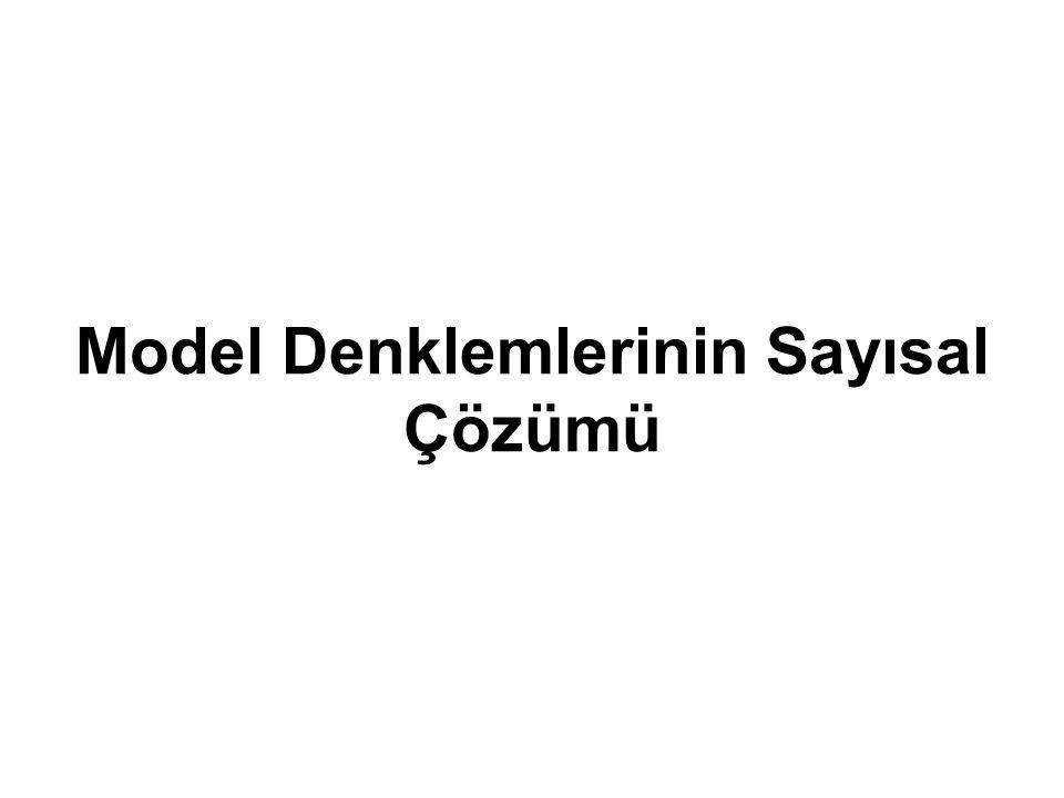 Model Denklemlerinin Sayısal Çözümü