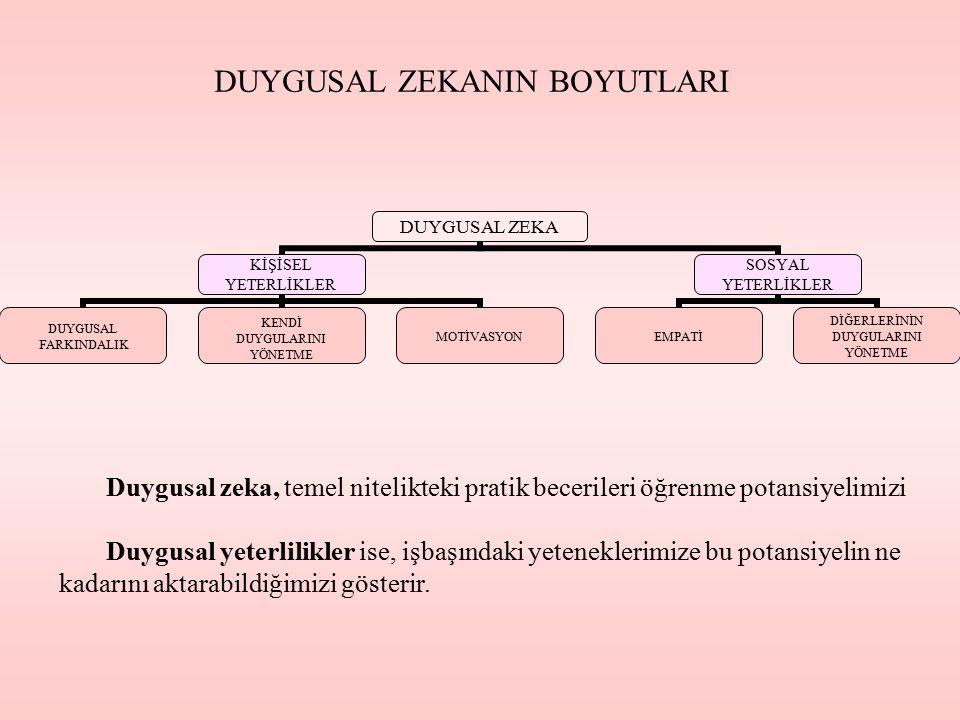 DUYGUSAL ZEKANIN BOYUTLARI