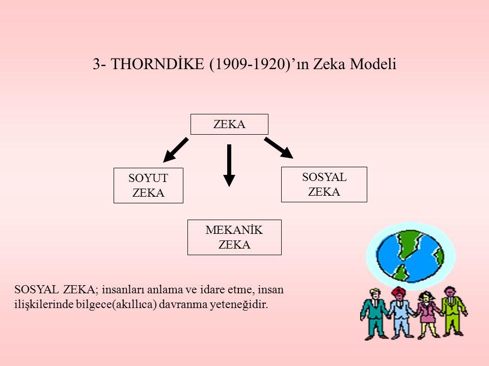3- THORNDİKE (1909-1920)'ın Zeka Modeli