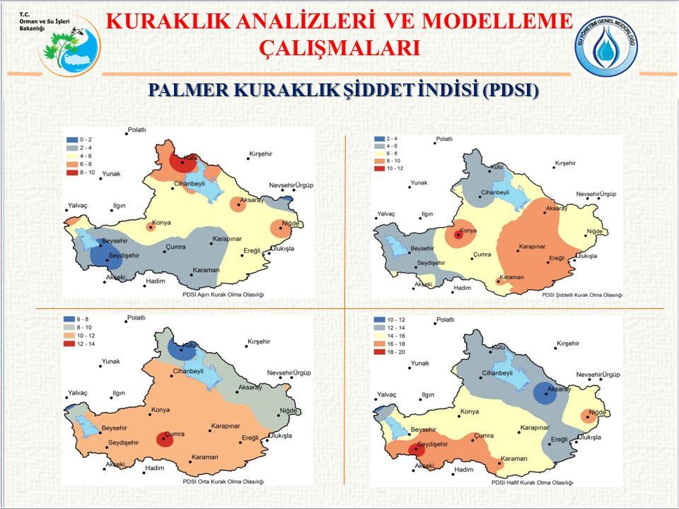 KURAKLIK ANALİZLERİ VE MODELLEME PALMER KURAKLIK ŞİDDET İNDİSİ (PDSI)