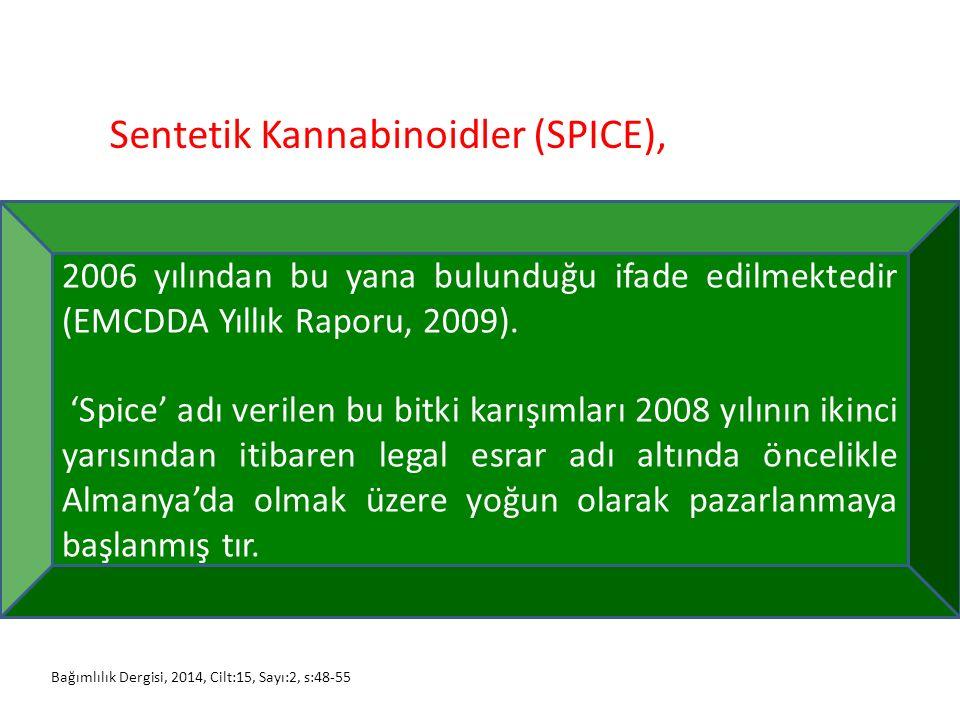 Sentetik Kannabinoidler (SPICE),