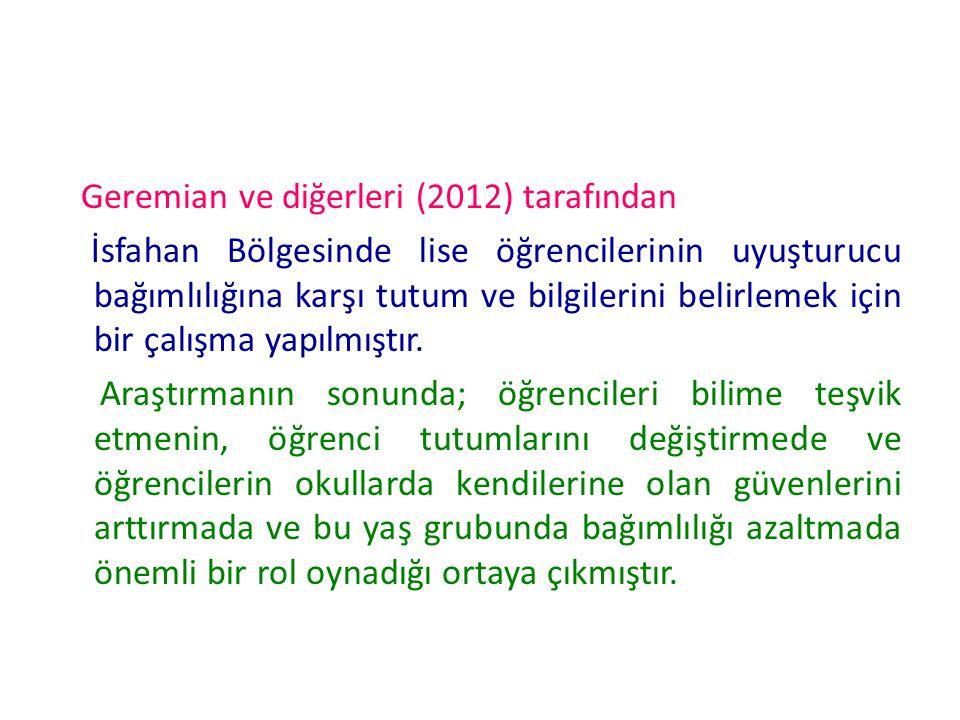 Geremian ve diğerleri (2012) tarafından