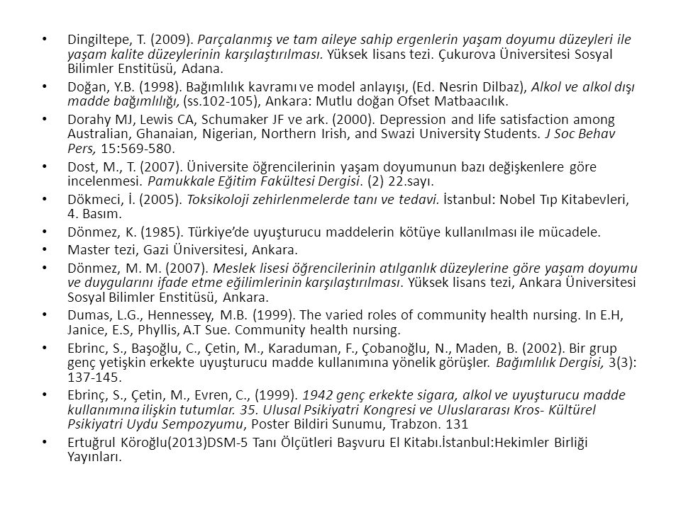 Master tezi, Gazi Üniversitesi, Ankara.