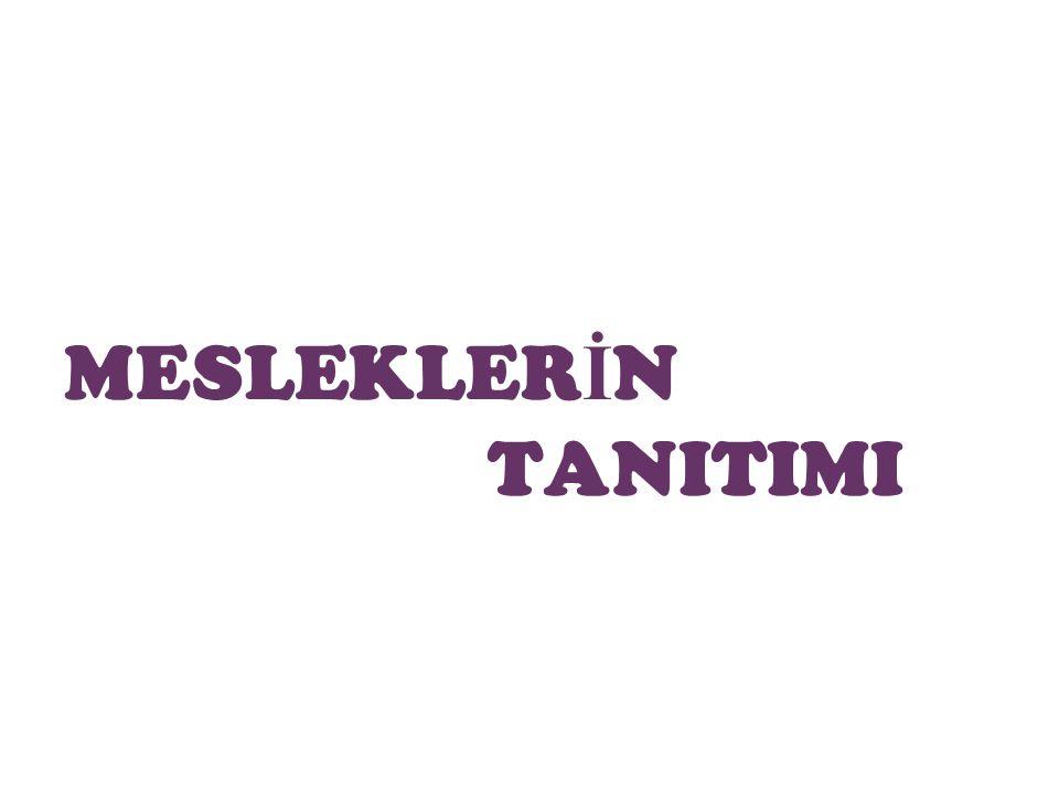 MESLEKLERİN TANITIMI
