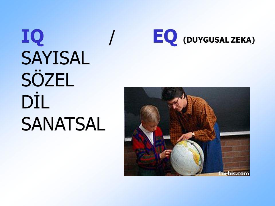 IQ / EQ (DUYGUSAL ZEKA) SAYISAL SÖZEL DİL SANATSAL