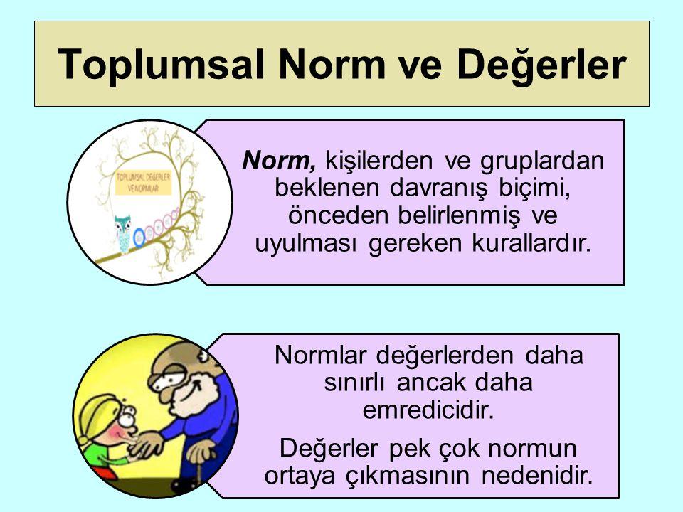 Toplumsal Norm ve Değerler