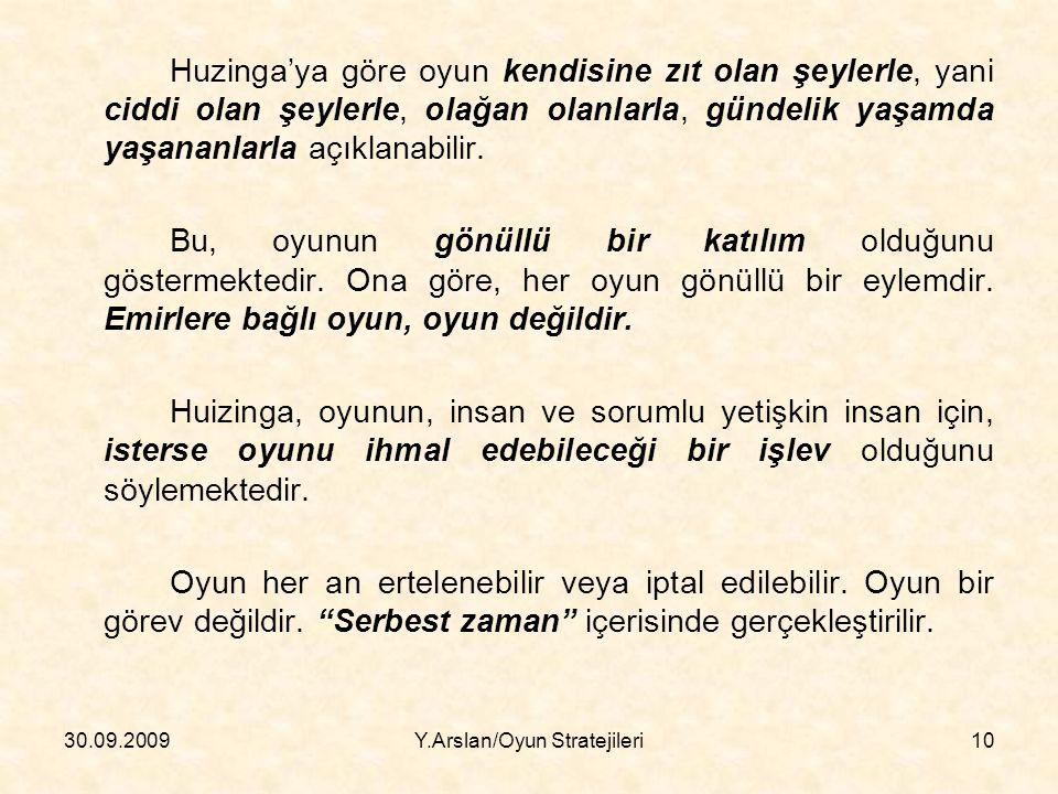 Y.Arslan/Oyun Stratejileri