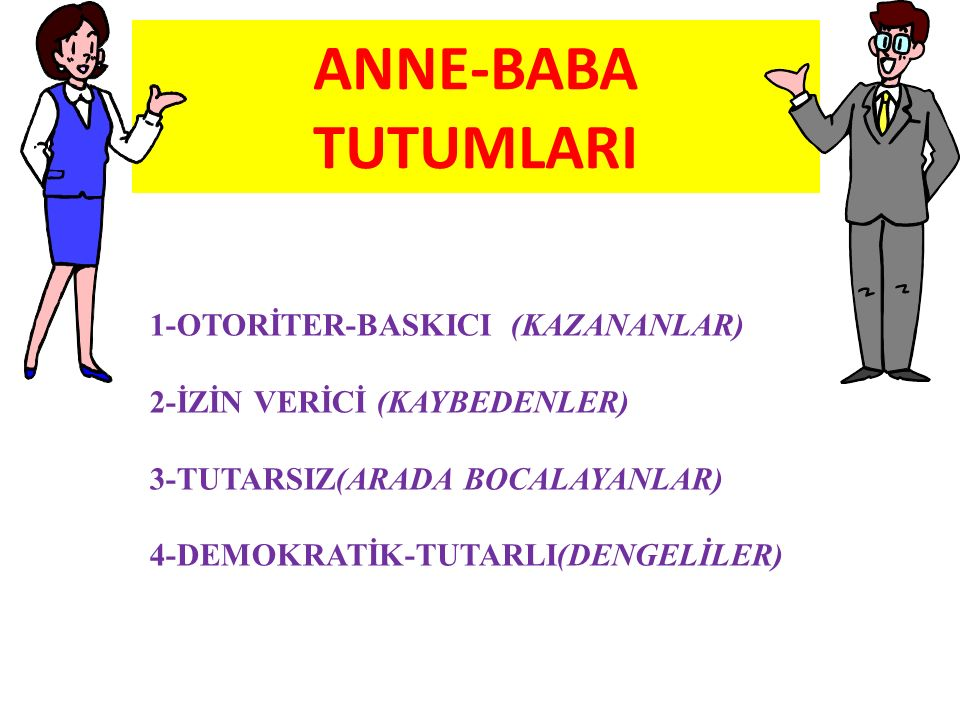 ANNE-BABA TUTUMLARI 1-OTORİTER-BASKICI (KAZANANLAR)