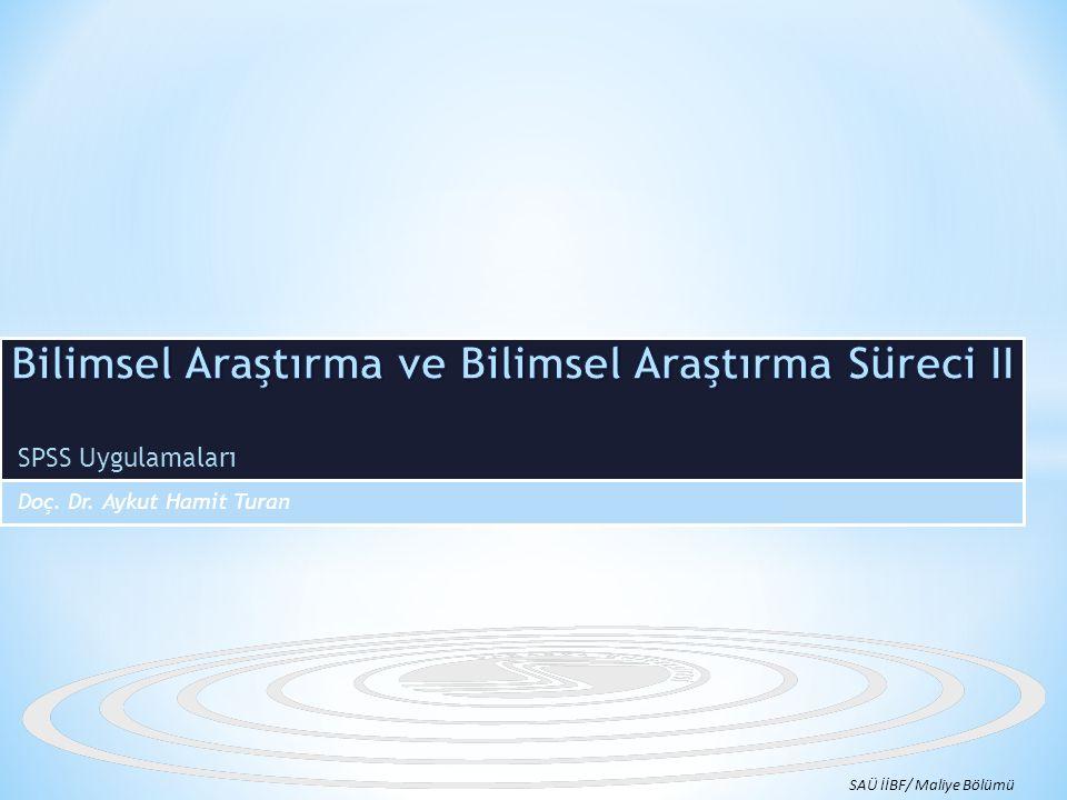 Bilimsel Araştırma ve Bilimsel Araştırma Süreci II