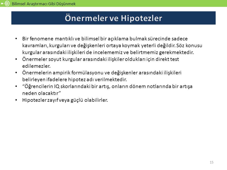 Önermeler ve Hipotezler