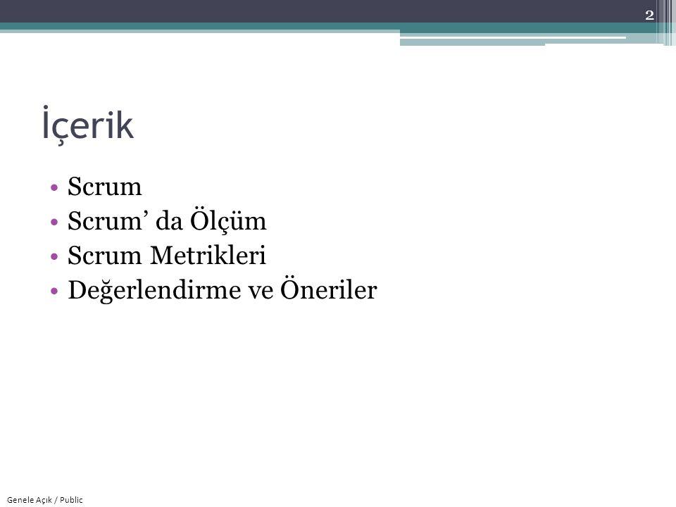 İçerik Scrum Scrum' da Ölçüm Scrum Metrikleri