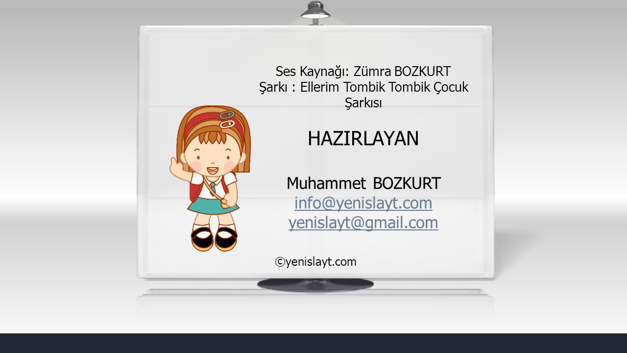 HAZIRLAYAN Muhammet BOZKURT info@yenislayt.com yenislayt@gmail.com