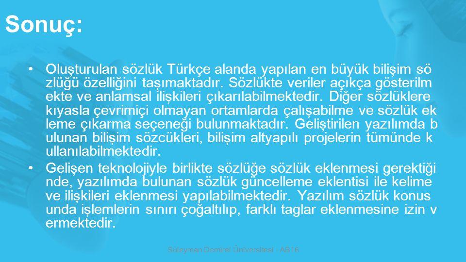 Süleyman Demirel Üniversitesi - AB16