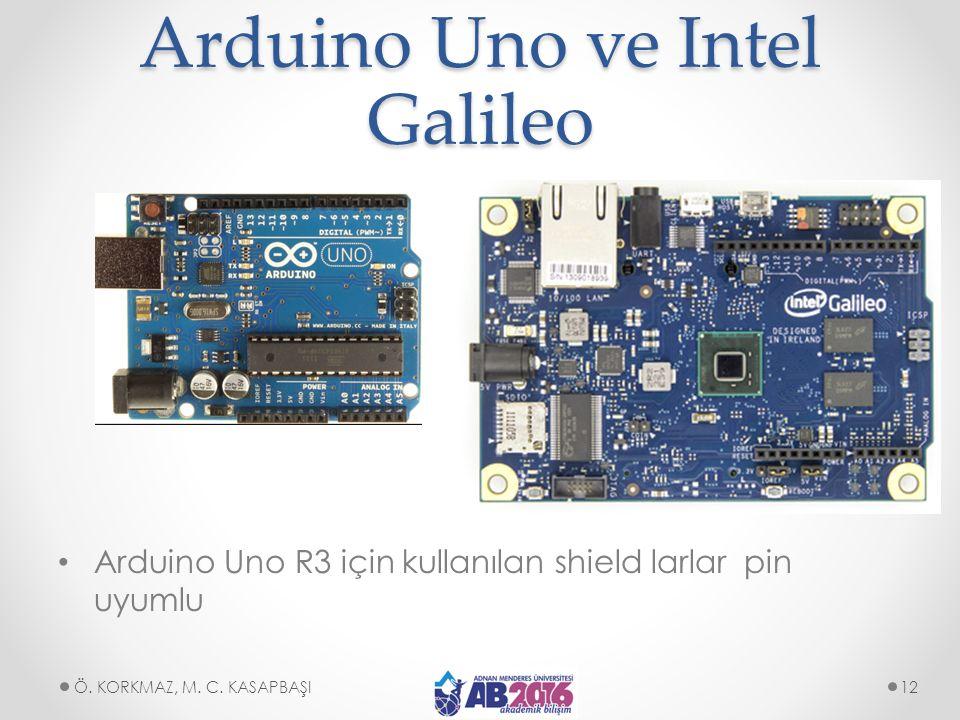 Arduino Uno ve Intel Galileo