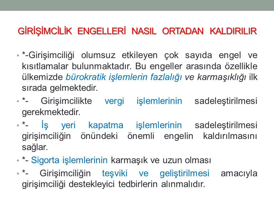 GİRİŞİMCİLİK ENGELLERİ NASIL ORTADAN KALDIRILIR