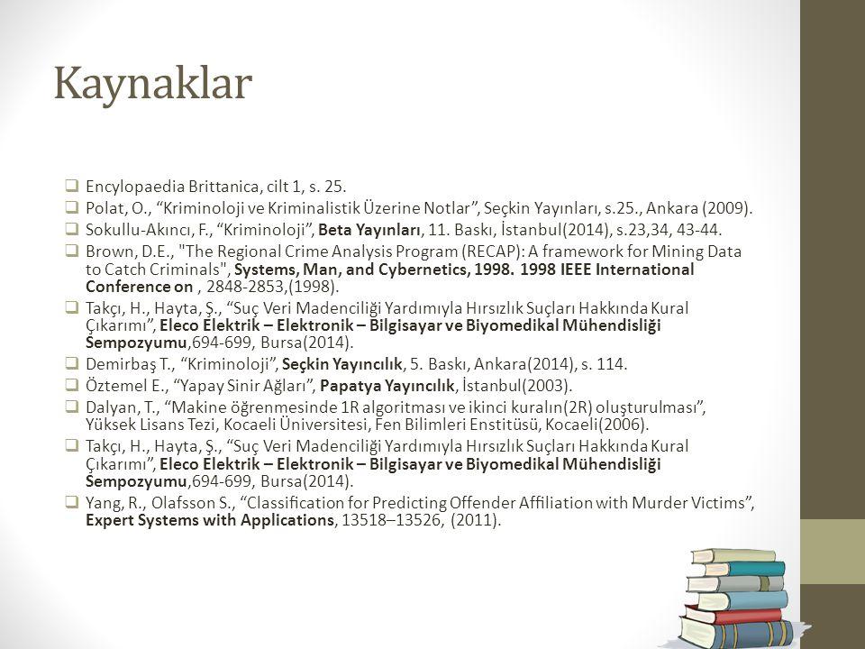 Kaynaklar Encylopaedia Brittanica, cilt 1, s. 25.