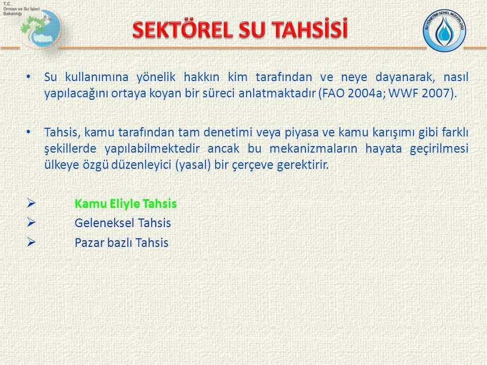 SEKTÖREL SU TAHSİSİ
