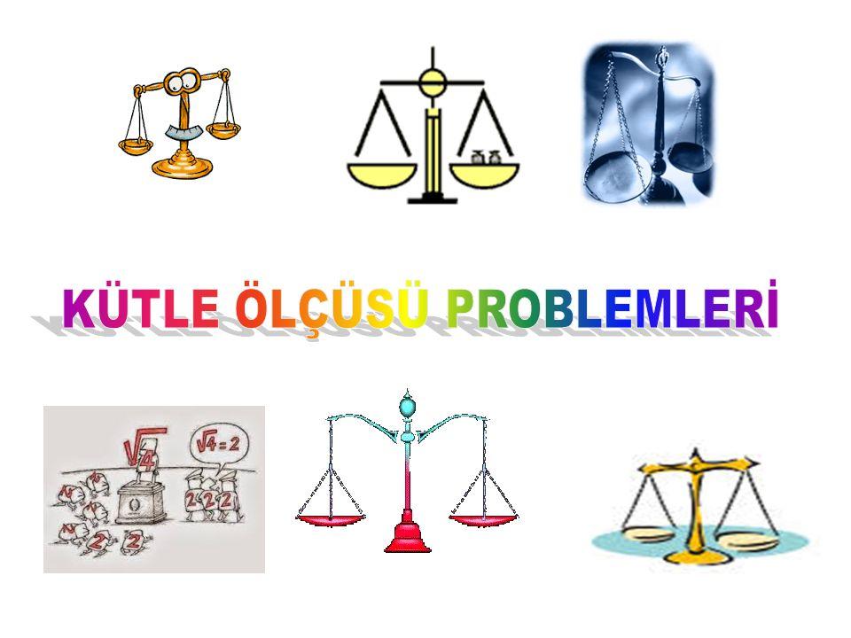 KÜTLE ÖLÇÜSÜ PROBLEMLERİ