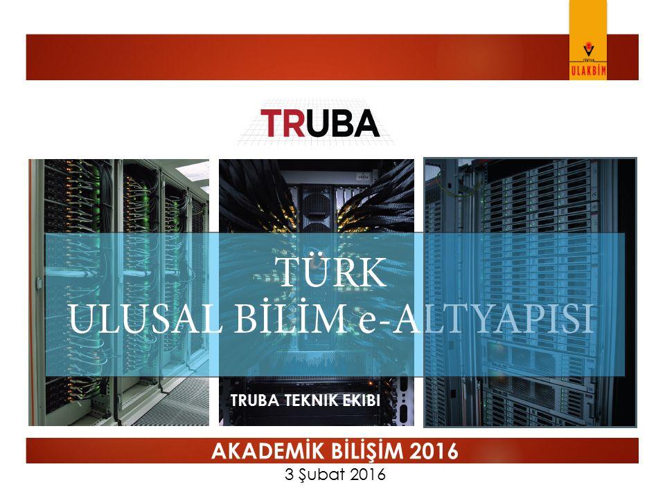 TRUBA Teknik Ekibi AKADEMİK BİLİŞİM 2016 3 Şubat 2016