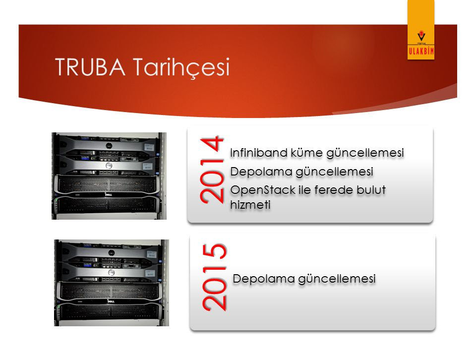 2014 2015 TRUBA Tarihçesi Depolama güncellemesi