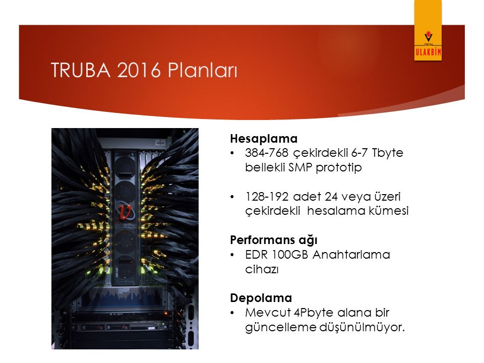 TRUBA 2016 Planları Hesaplama