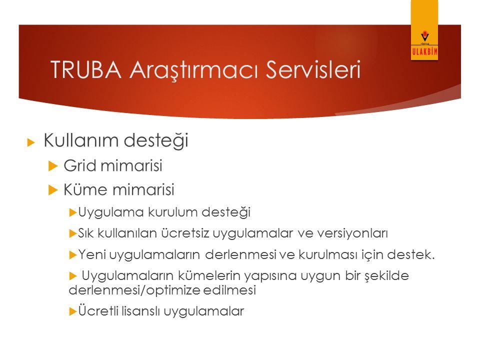 TRUBA Araştırmacı Servisleri