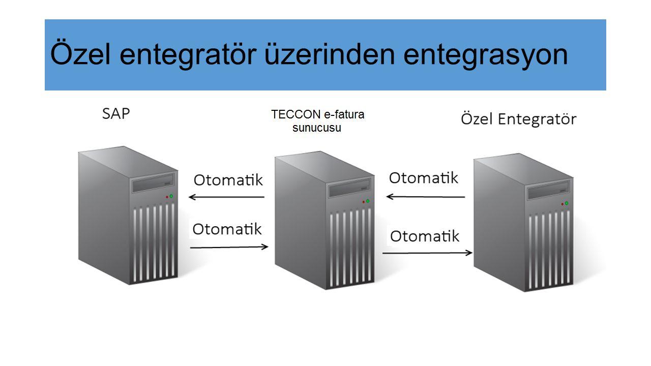 Özel entegratör üzerinden entegrasyon