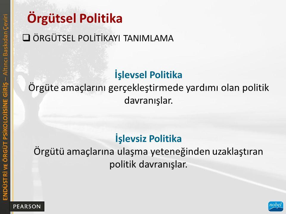 Örgütsel Politika İşlevsel Politika