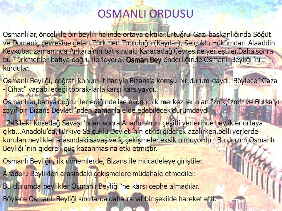 OSMANLI ORDUSU
