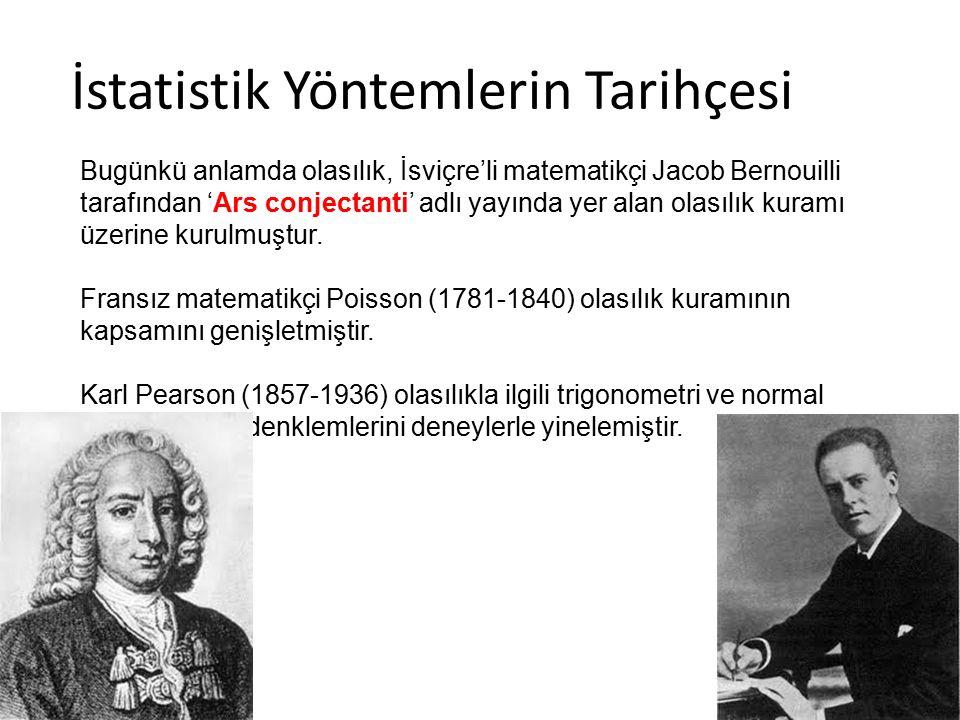 İstatistik Yöntemlerin Tarihçesi