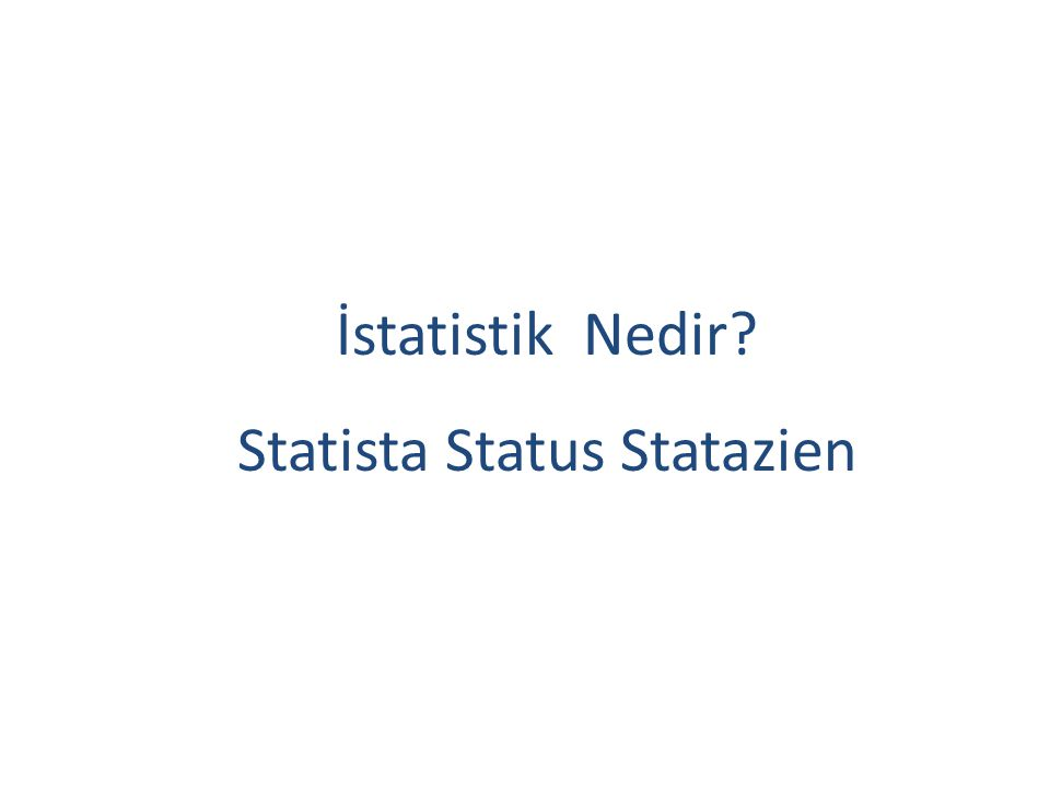 Statista Status Statazien